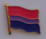 Bisexual Pride Flag Enamel Pin Badge